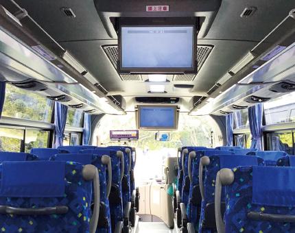 中型バスFUSO27人乗りTV