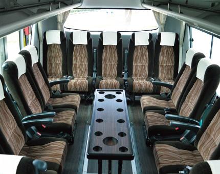 大型バス日野53人乗りサロン