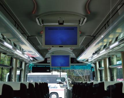 大型バス日野55人乗りTV